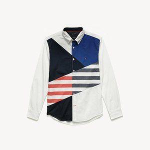 Tommy Hilfiger Pieced Shirt 100% Cotton
